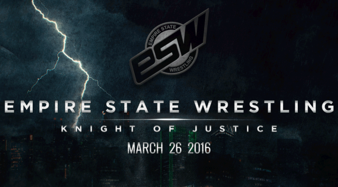 Tickets available now! ESW Knight of Justice: Saturday, March 26th