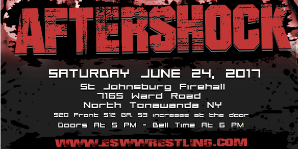 Results: Saturday, June 24 in North Tonawanda, NY! We're back August 26 with Brian Cage, Super Crazy and AR Fox!