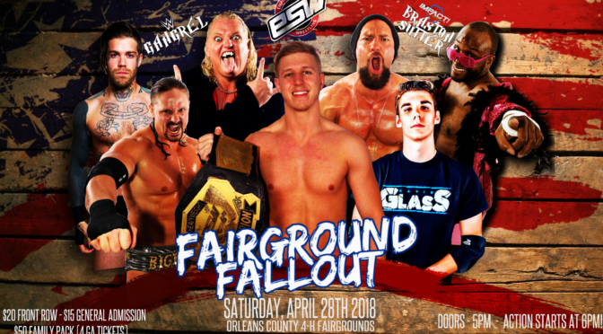 Tickets available now for ESW Fairground Fallout, April 28 in Albion, NY! Featuring Gangrel!