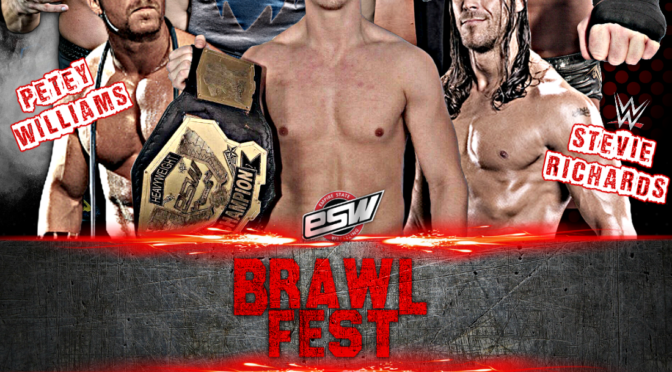 Tickets available now for ESW BrawlFest, May 19 in North Tonawanda, NY! Featuring Jimmy Jacobs, Simon Grimm (fka Simon Gotch), Stevie Richards and Petey Williams!